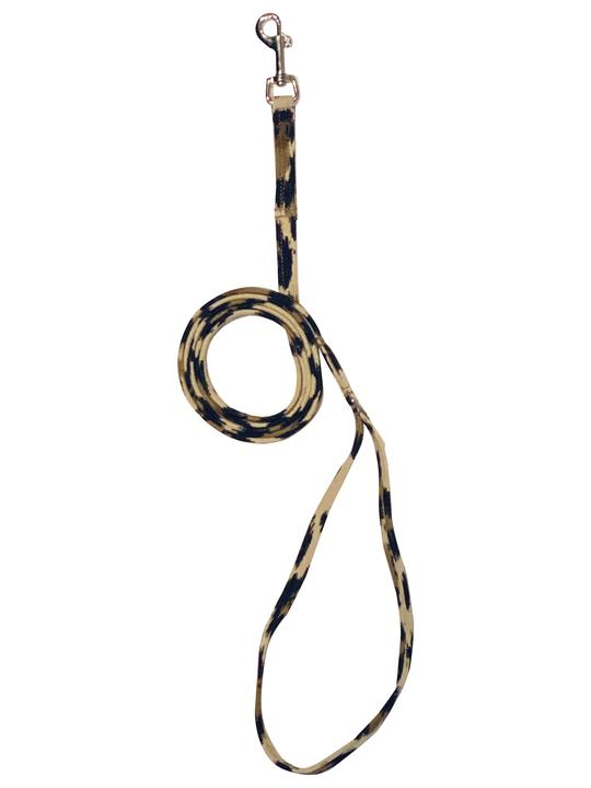 The Dog Squad Ultra Suede Leash, 4-ft, Leopard