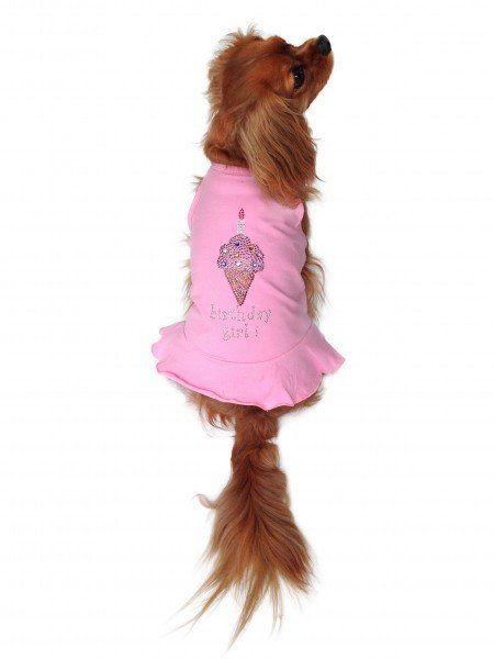The Dog Squad Tutu Dress, Pink Birthday Icecream, Small