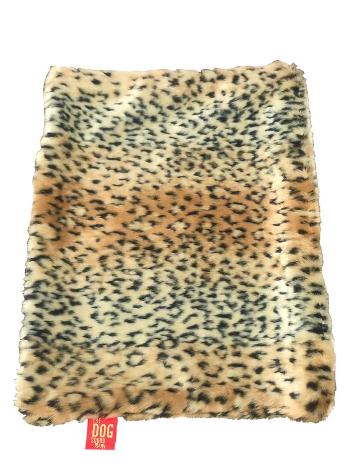 The Dog Squad All Plush Crate Liner Blanket, Brown Linx