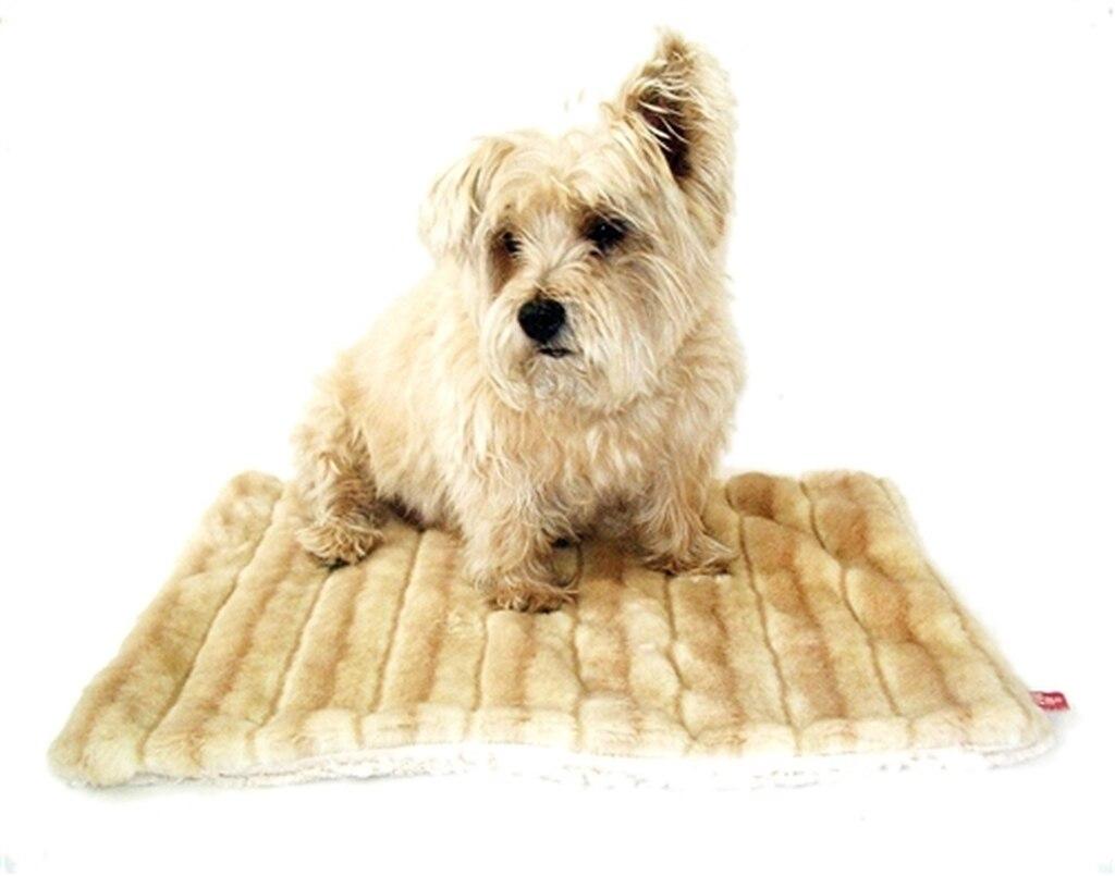 The Dog Squad All Plush Crate Liner Blanket, Camel Mink