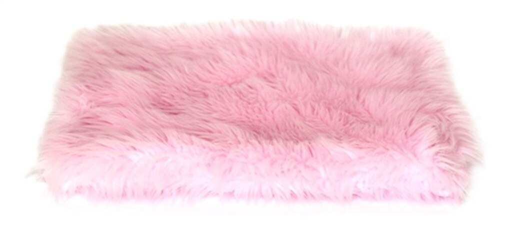 The Dog Squad All Plush Crate Liner Blanket, Pink Shag
