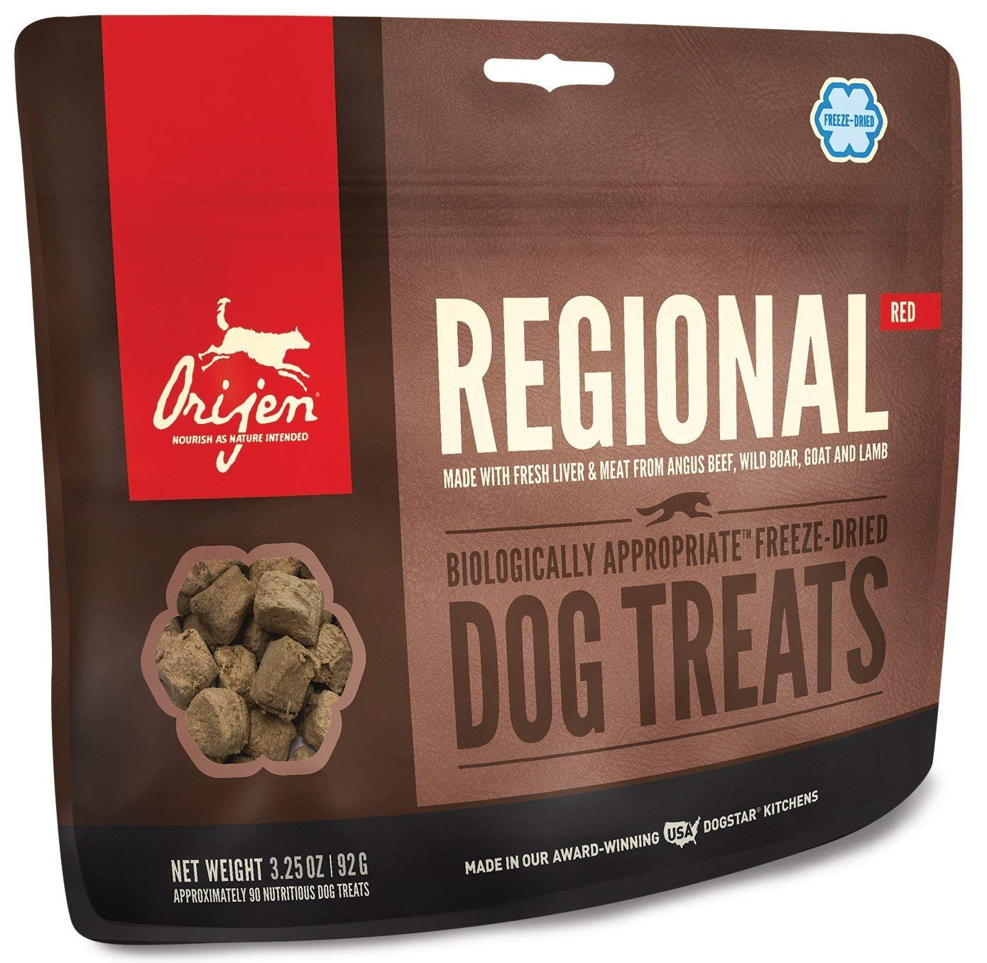 ORIJEN Freeze Dried Regional Red Dog Treats, 3.25-oz