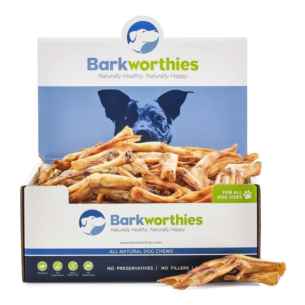 Barkworthies Duck Feet Grain-Free Dog Treats, case of 100