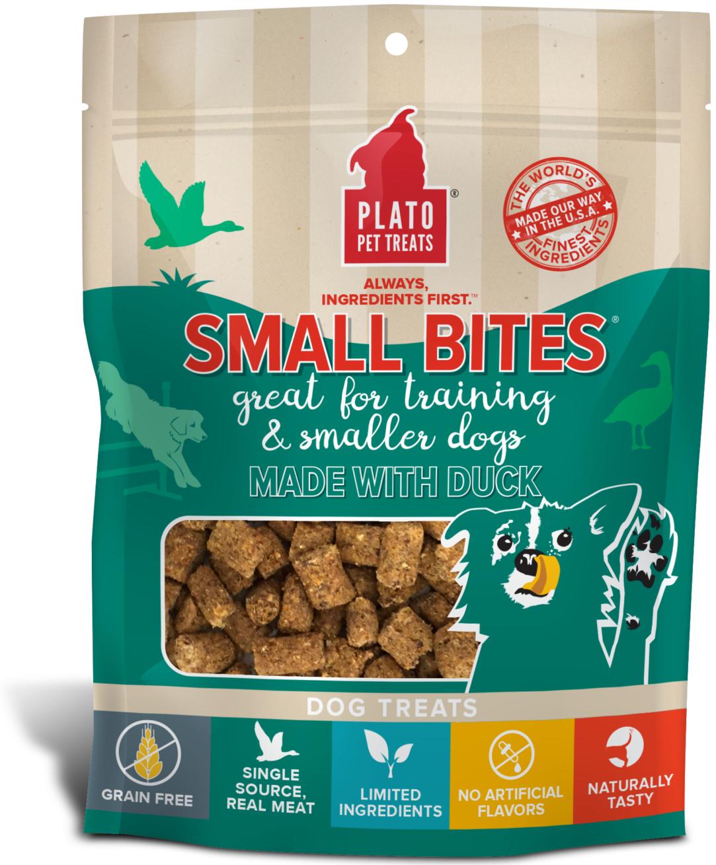 Plato Small Bites Duck Dog Treats, 2.5-oz