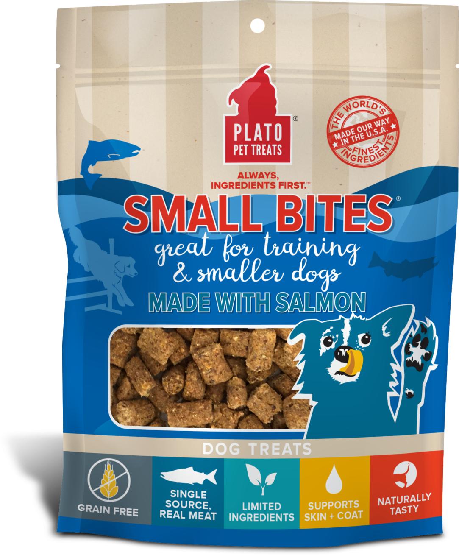 Plato Small Bites Salmon Dog Treats, 2.5-oz