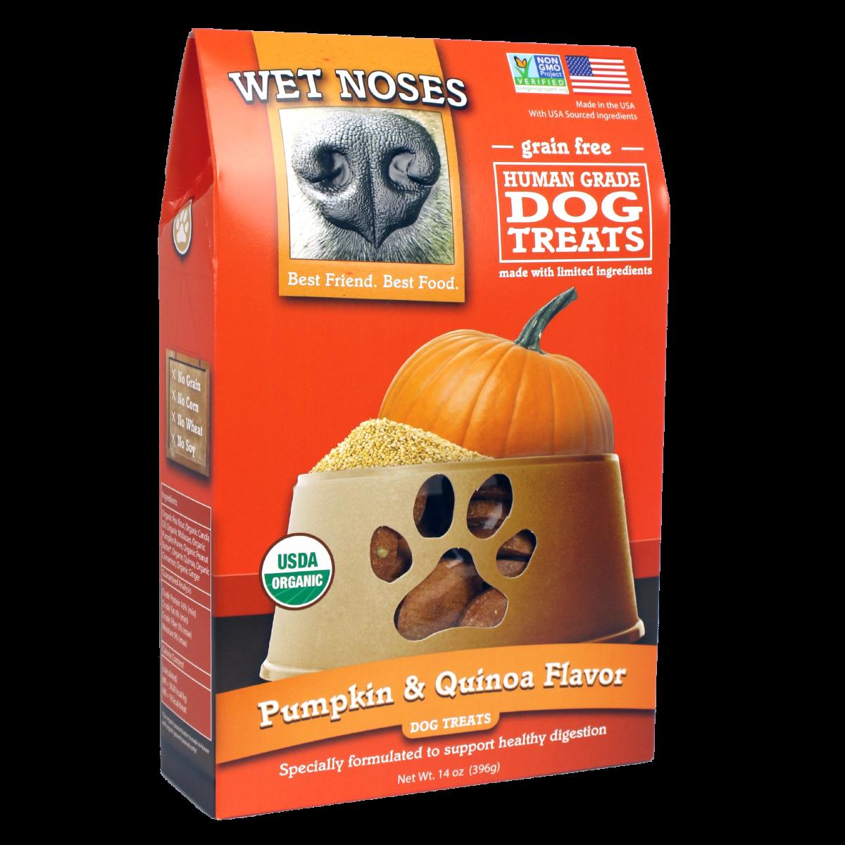 Wet Noses Pumpkin & Quinoa Grain-Free Dog Treats, 14-oz