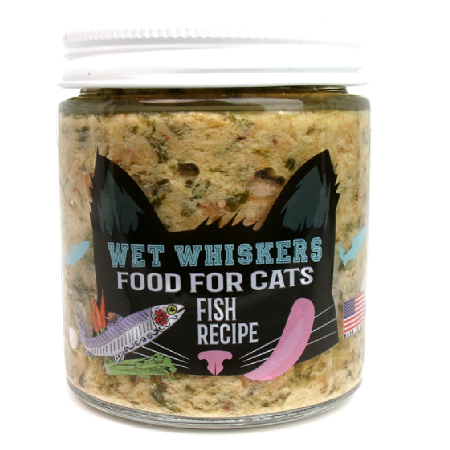 Wet Noses Wet Whiskers Fish Recipe Wet Noses Wet Cat Food, 4-oz jar