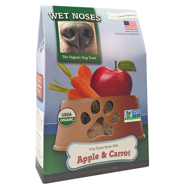 Wet Noses  Apple & Carrot Dog Treats, 14-oz