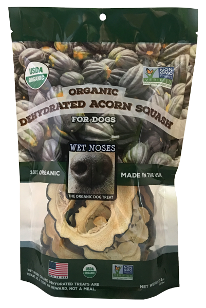 Wet Noses Organic Acorn Squash Slices Dehydrated Dog Treats
