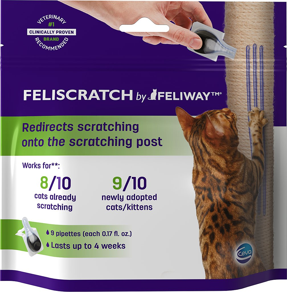 Feliway Feliscratch Scratching Attractant for Cats, 9-pack