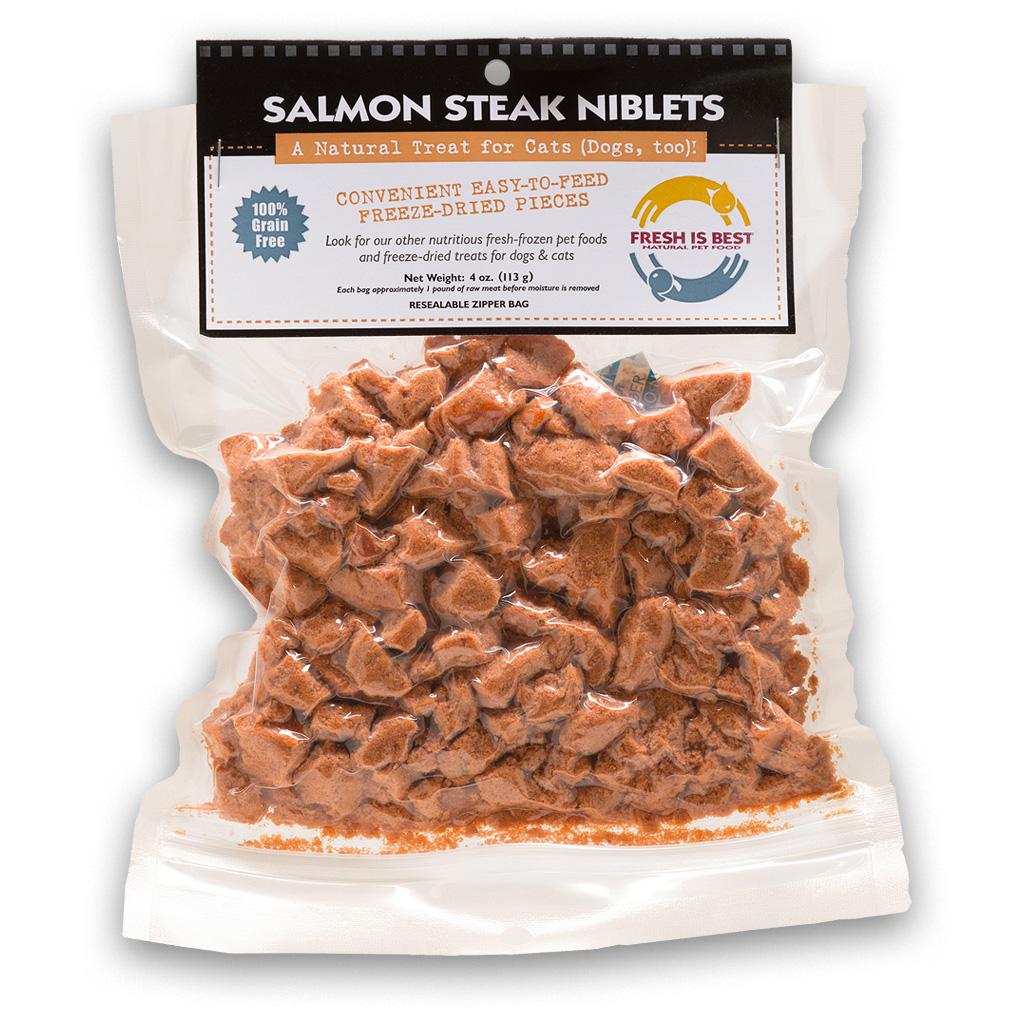 Fresh Is Best Salmon Steak Niblets Dog & Cat Treat