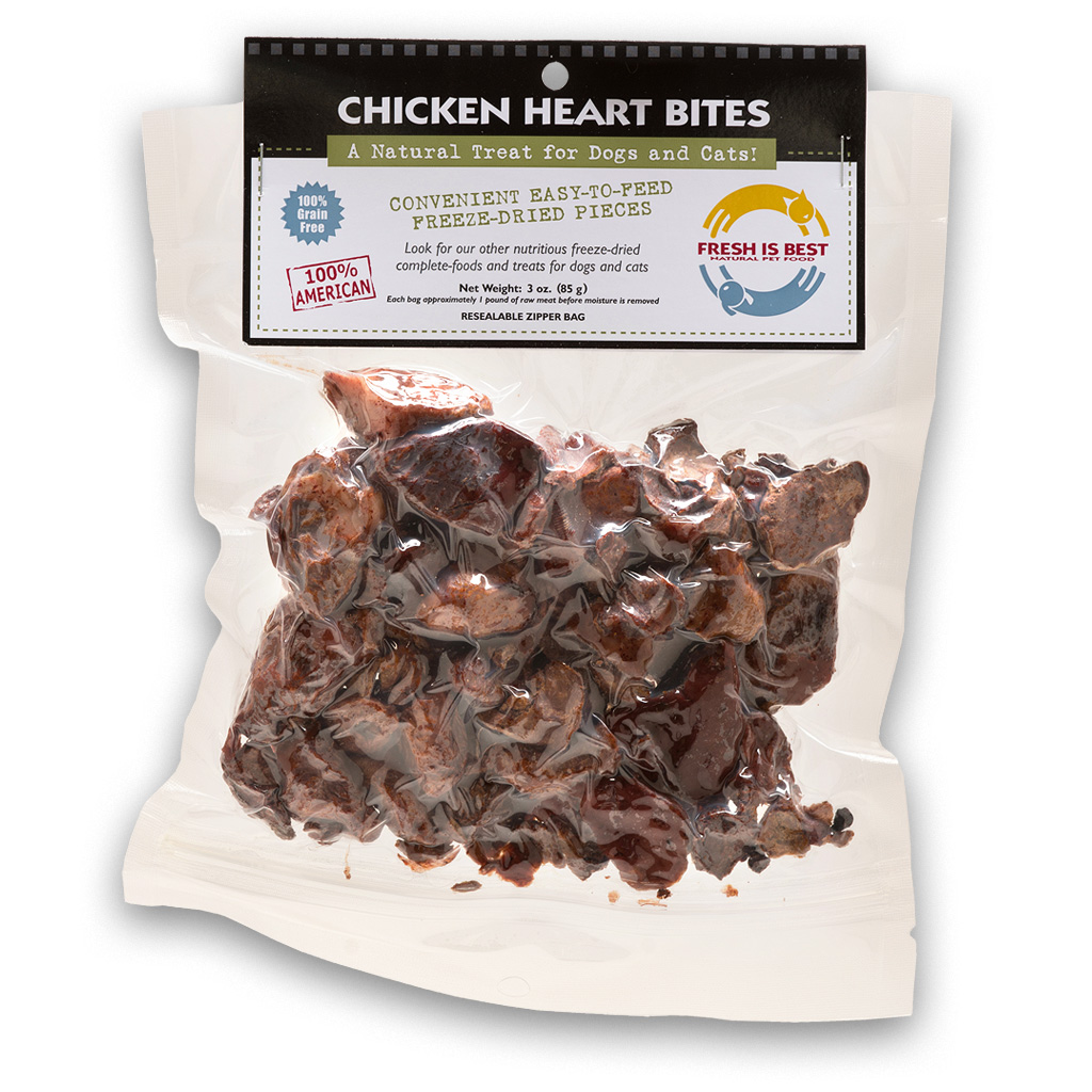 Fresh Is Best Chicken Heart Bites Dog & Cat Treats