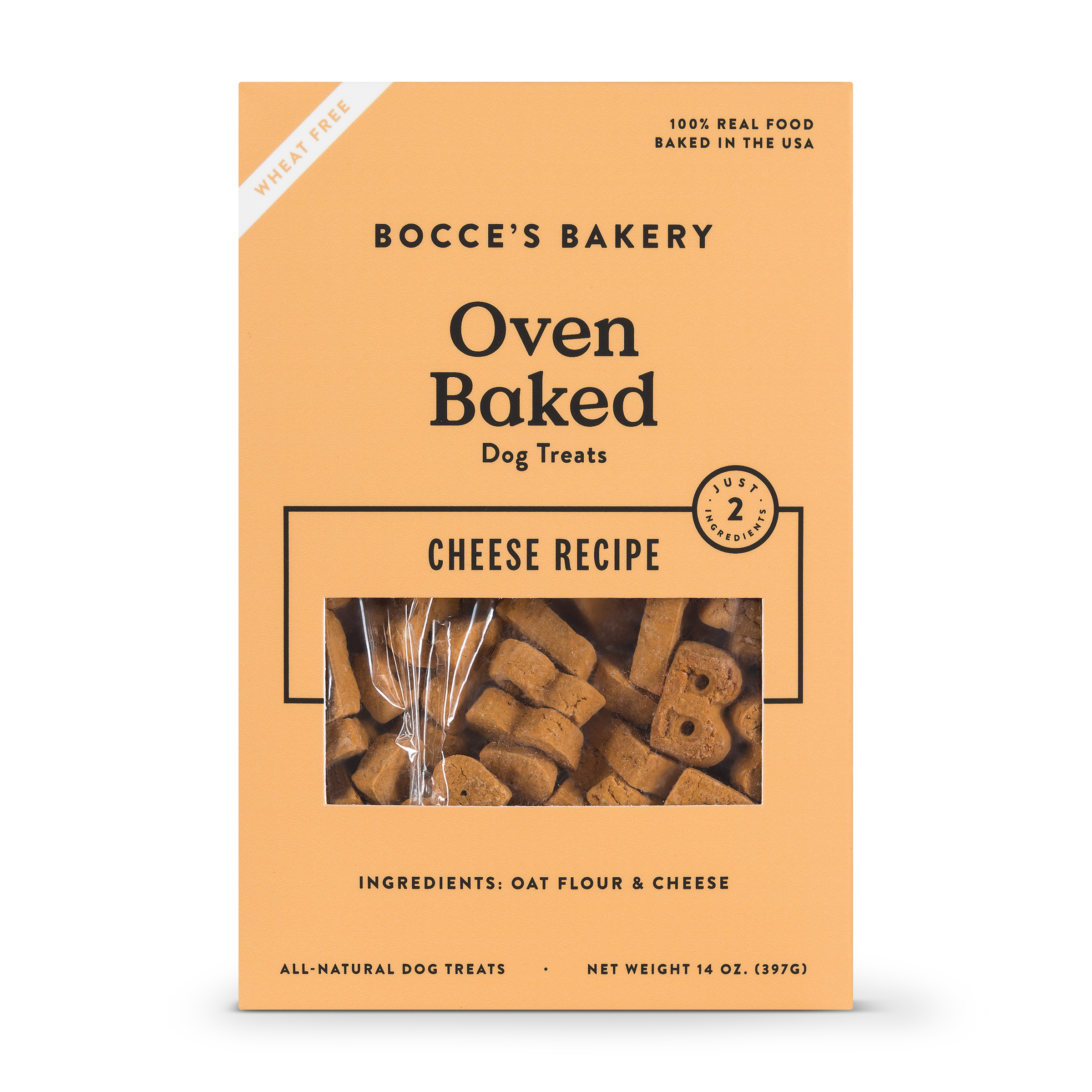 Bocce's Bakery Better Basics Cheese Dog Biscuits, 14-oz