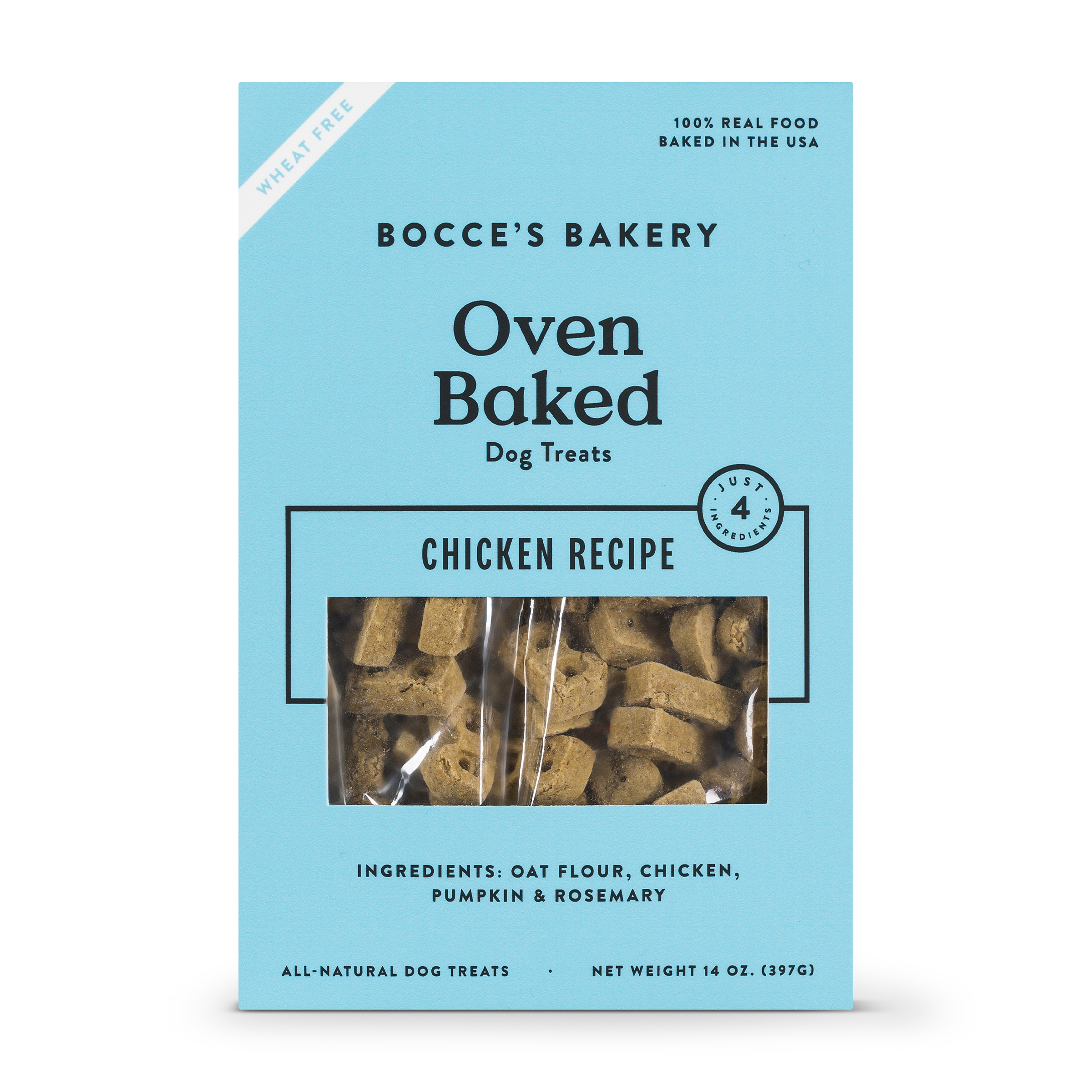Bocce's Bakery Better Basics Chicken Dog Biscuits, 14-oz