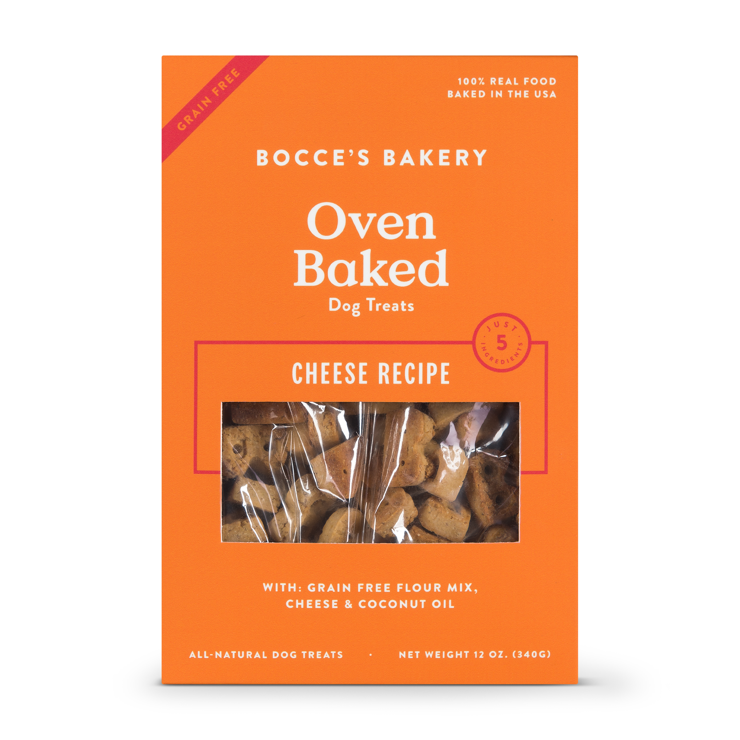 Bocce's Bakery Better Basics Grain-Free Cheese Dog Biscuits, 12-oz