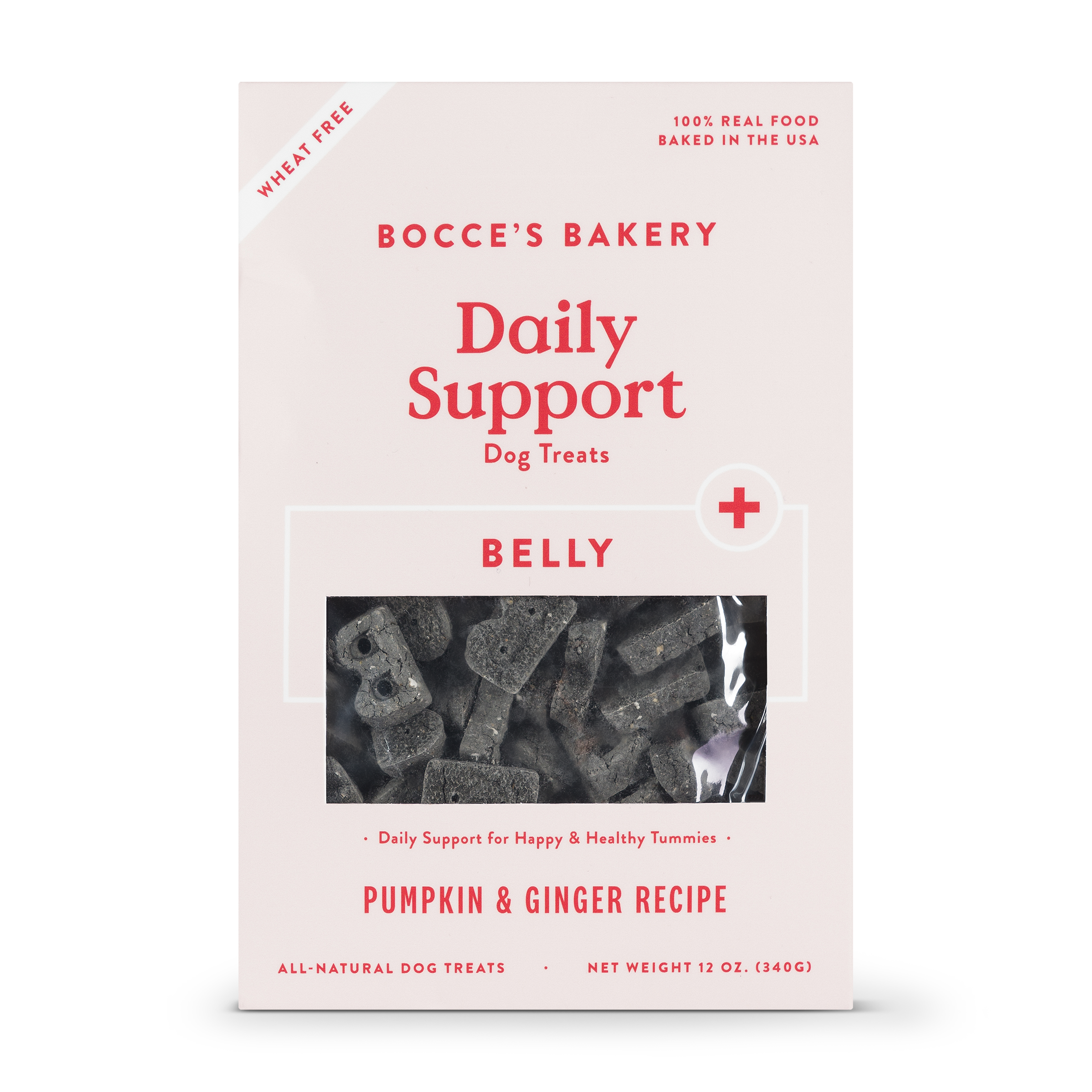 Bocce's Bakery Daily Support Belly Aid Pumpkin & Ginger Dog Treat, 12-oz