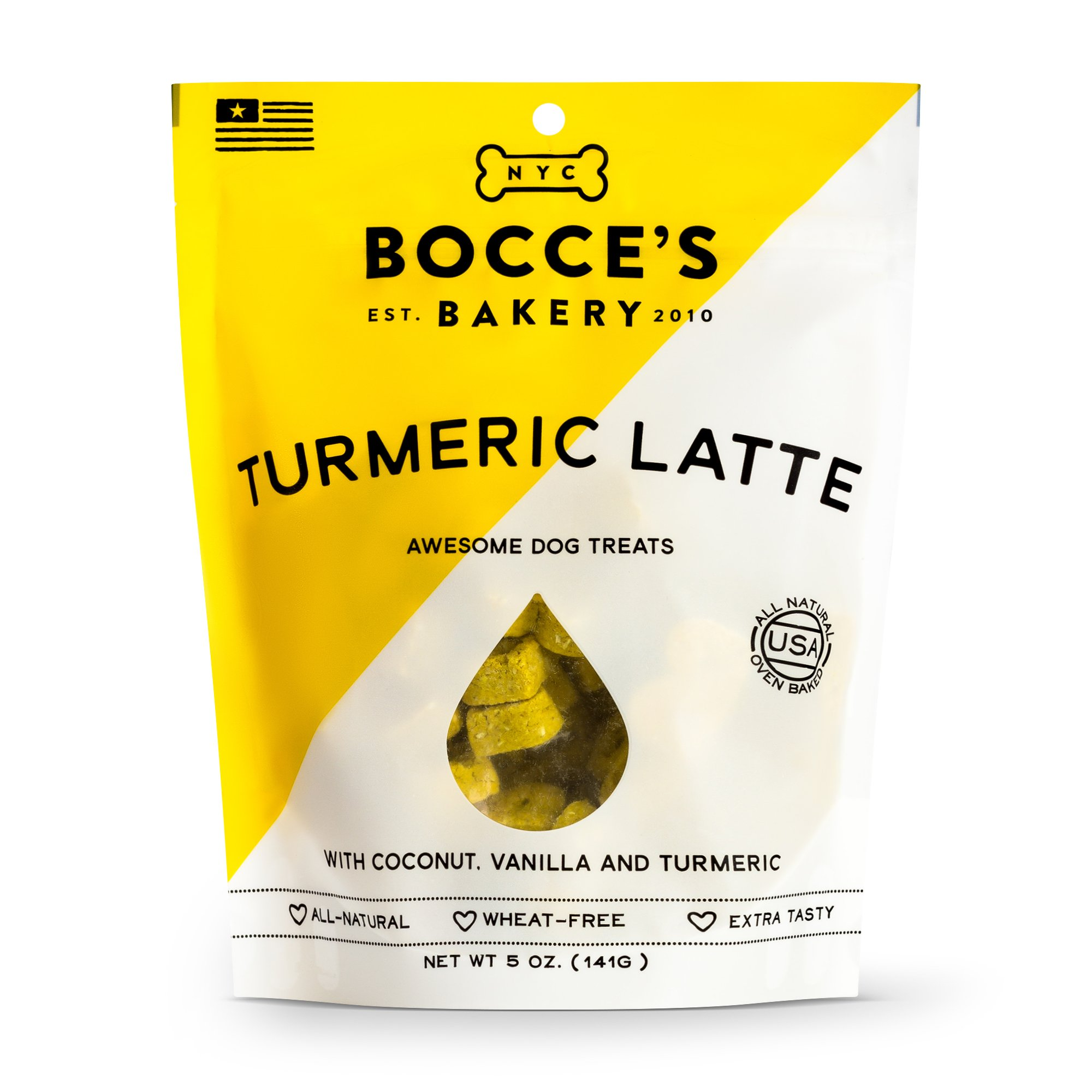 Bocce's Bakery Seasonal Tumeric Latte Biscuits 5-oz Size: 5-oz