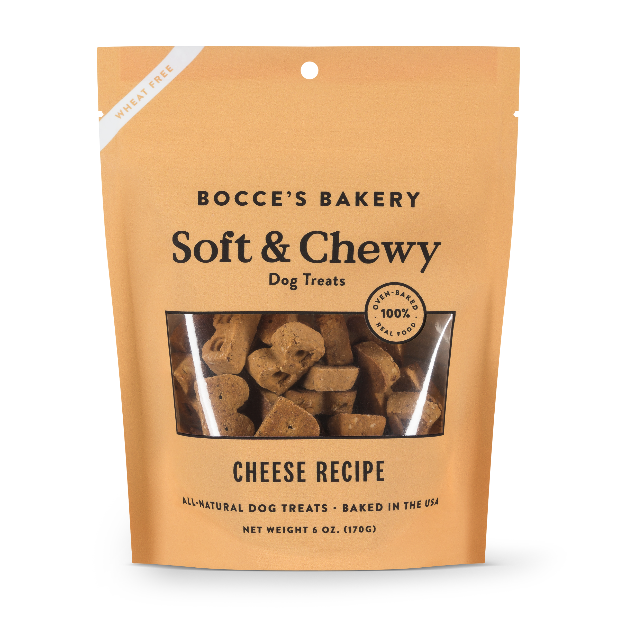 Bocce's Bakery Soft & Chewy Cheese Dog Treats 6-oz