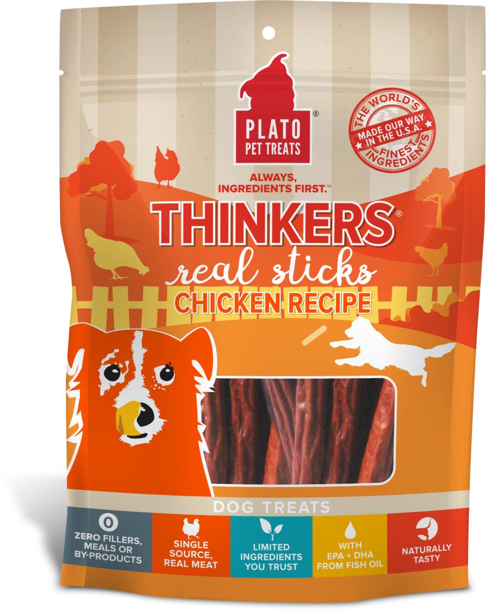 Plato Thinkers Chicken Recipe Dog Treats, 10-oz bag