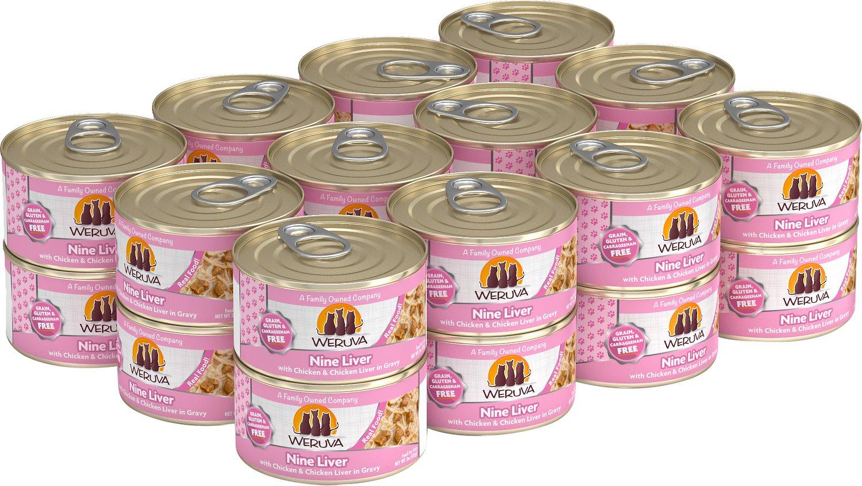 Weruva Cat Classic Nine Liver with Chicken & Chicken Liver in Gravy Grain-Free Wet Cat Food, 3-oz, case of 24
