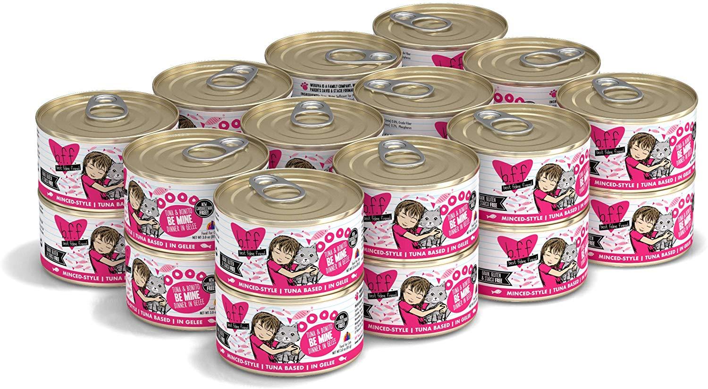 BFF Originals Be Mine Tuna & Bonito Dinner in Gelee Grain-Free Wet Cat Food, 3-oz, case of 24