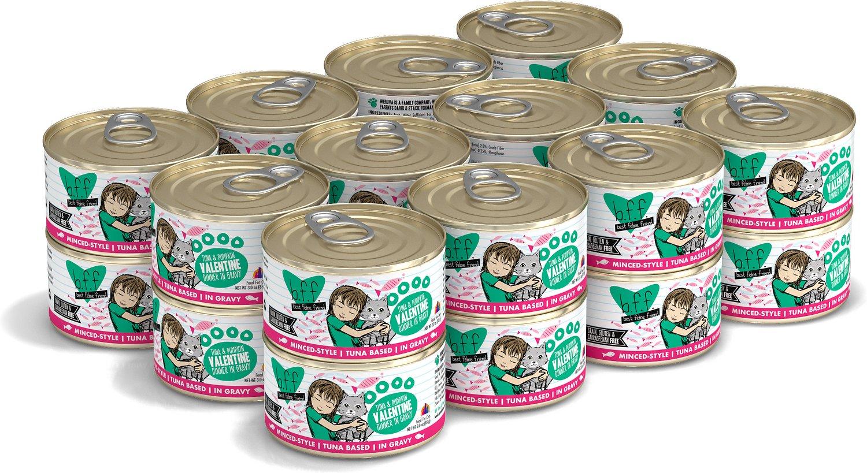 BFF Originals Valentine Tuna & Pumpkin Dinner in Gravy Grain-Free Wet Cat Food, 3-oz, case of 24