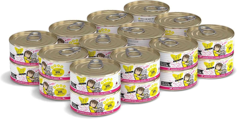 BFF Originals 4EVA Tuna & Chicken Dinner in Gravy Grain-Free Wet Cat Food, 5.5-oz, case of 24