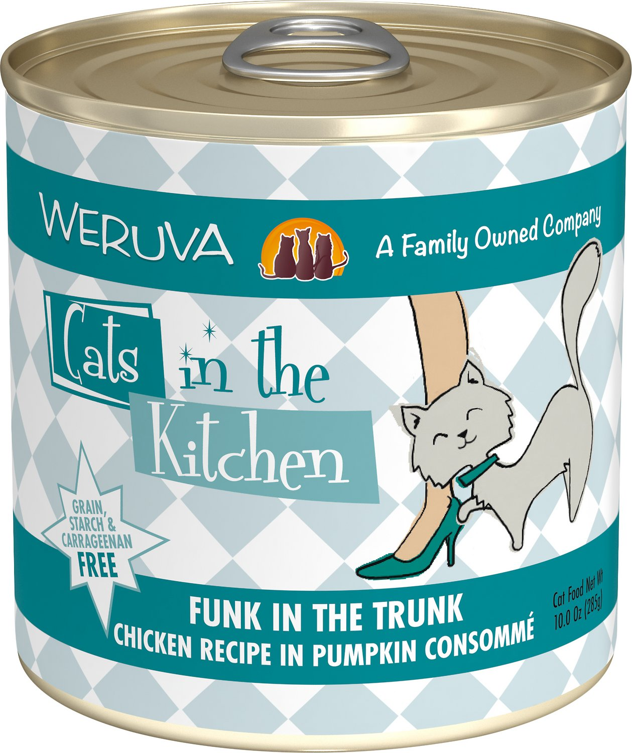 Weruva Cats in the Kitchen Funk In The Trunk Chicken in Pumpkin Consomme Grain-Free Wet Cat Food, 10-oz