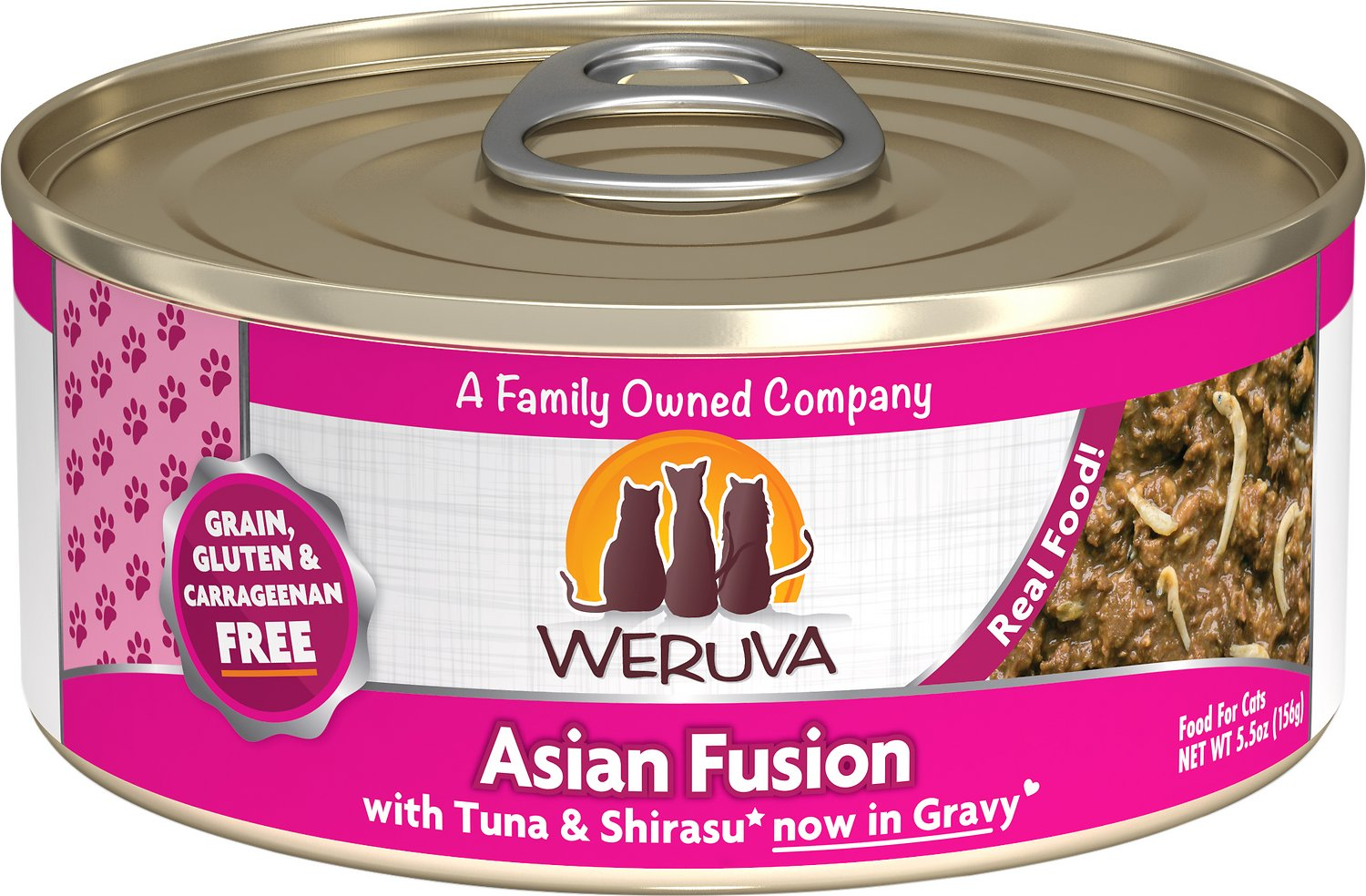 Weruva Cat Classic Asian Fusion with Tuna & Shirasu Grain-Free Wet Cat Food, 5.5-oz
