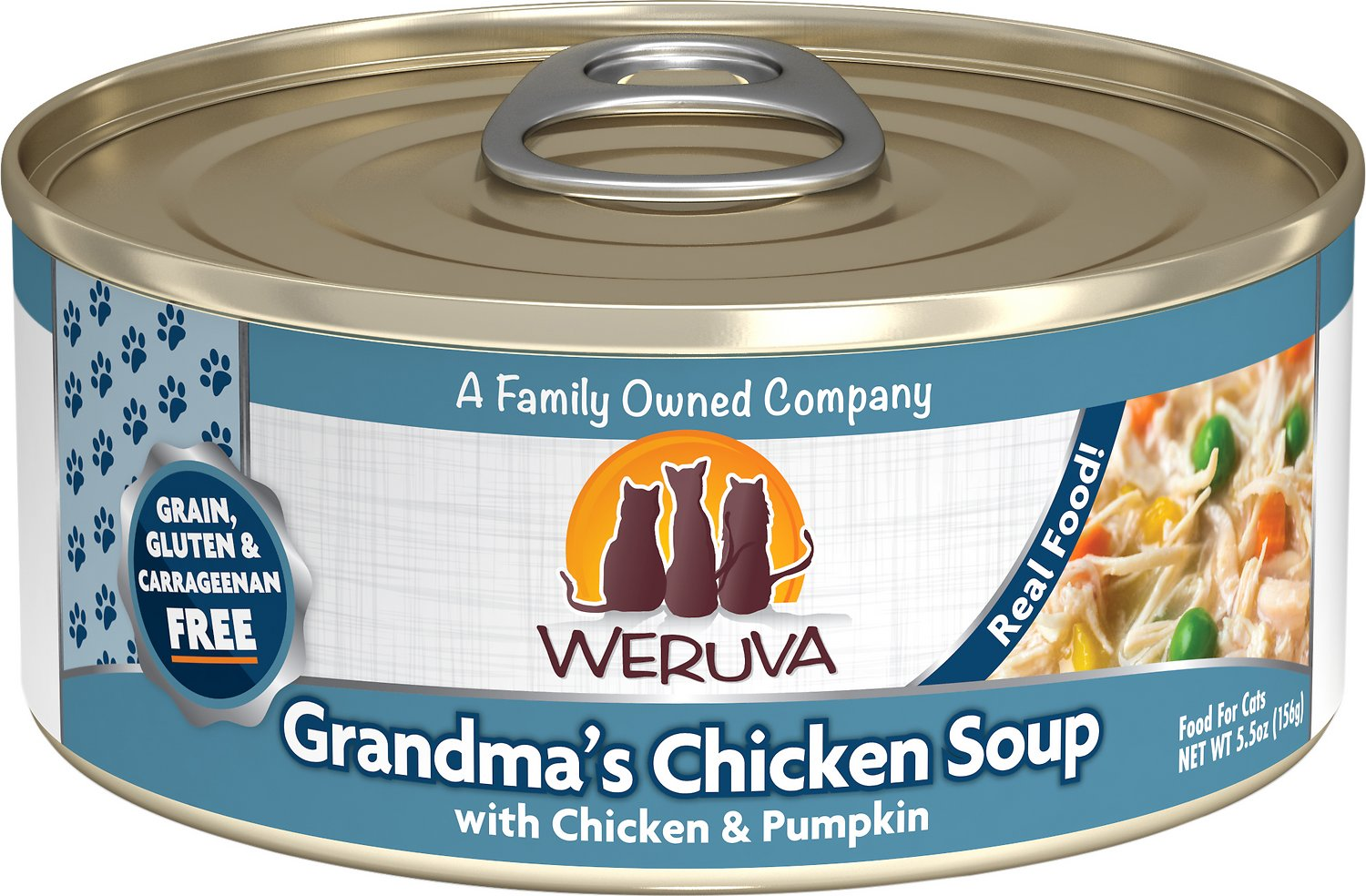 Weruva Cat Classic Grandma's Chicken Soup with Chicken & Pumpkin Grain-Free Wet Cat Food, 5.5-oz