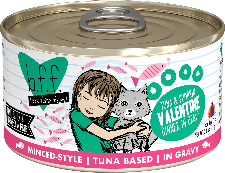 BFF Originals Valentine Tuna & Pumpkin Dinner in Gravy Grain-Free Wet Cat Food, 3-oz