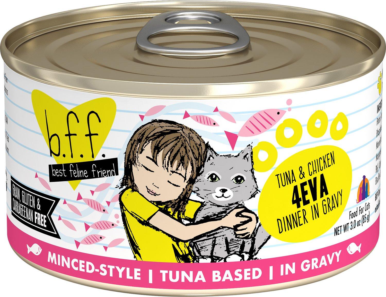 BFF Originals 4EVA Tuna & Chicken Dinner in Gravy Grain-Free Wet Cat Food, 3-oz