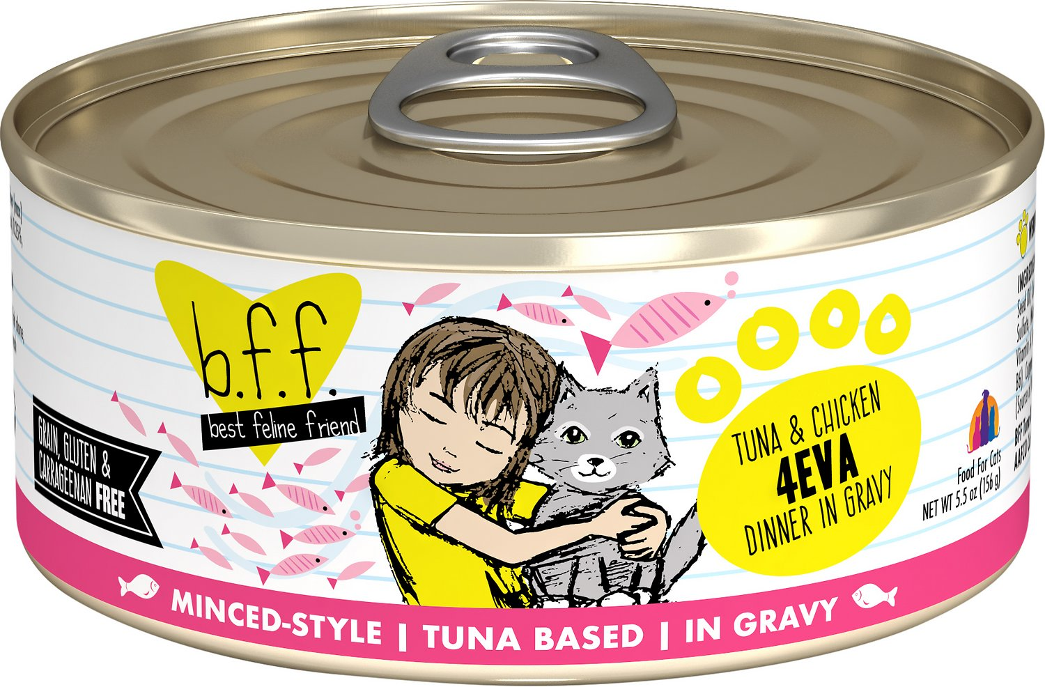 BFF Originals 4EVA Tuna & Chicken Dinner in Gravy Grain-Free Wet Cat Food, 5.5-oz