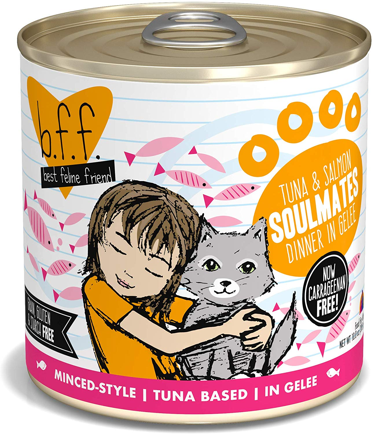 BFF Originals Soulmates Tuna & Salmon Dinner in Gelee Grain-Free Wet Cat Food, 10-oz