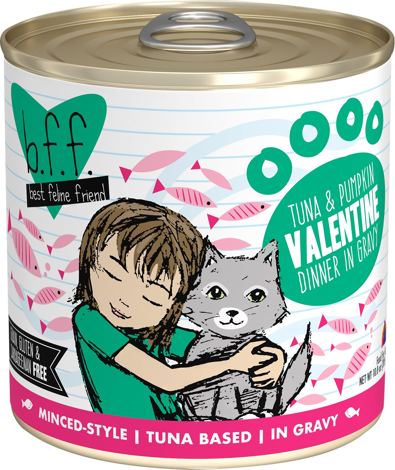 BFF Originals Valentine Tuna & Pumpkin Dinner in Gravy Grain-Free Wet Cat Food, 10-oz