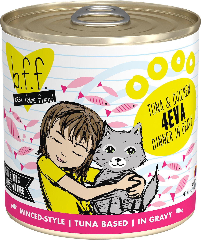 BFF Originals 4EVA Tuna & Chicken Dinner in Gravy Grain-Free Wet Cat Food, 10-oz