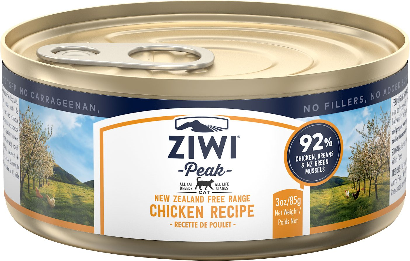 Ziwi Cat Peak Chicken Recipe Canned Cat Food, 3-oz