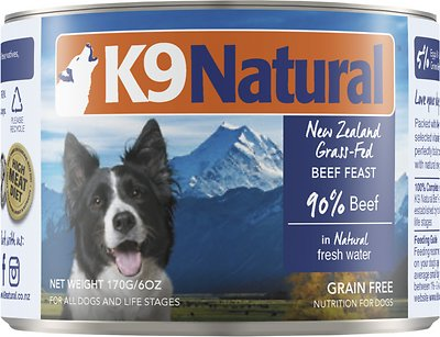 K9 Natural Beef Feast Grain-Free Canned Dog Food, 6-oz