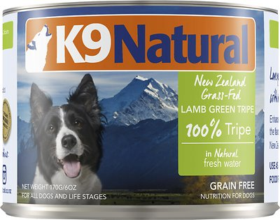 K9 Natural 100% Lamb Green Tripe Grain-Free Canned Dog Food, 6-oz