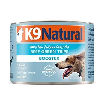 K9 Natural Booster Beef Green Tripe Grain-Free Wet Supplement for Dogs, 6-oz