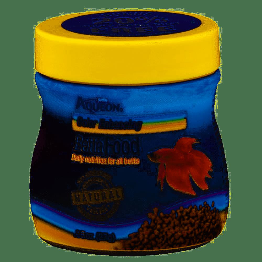 Aqueon Color Enhancing Betta Fish Food, .95-oz
