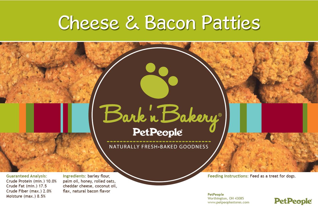 Bark 'n Bakery Cheese & Bacon Patties, 1 Pound