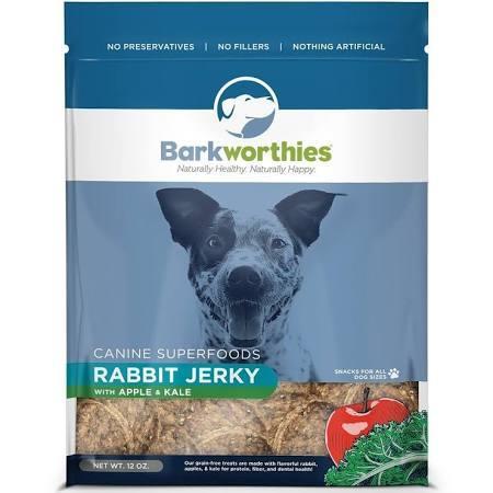 Barkworthies Jerky Rabbit Apple 3oz