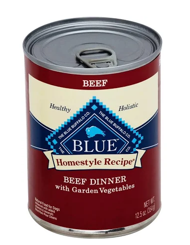 Blue Buffalo Homestyle Recipe Beef Dinner with Garden Vegetables Grain-Free Canned Dog Food, 12.5-oz