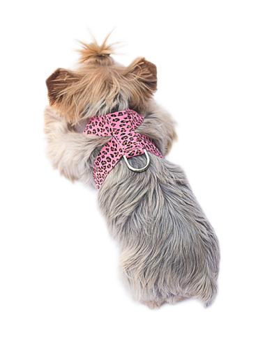 The Dog Squad Hollywood Quick Release Ultra Suede Dog Harness, Bubble Leopard, XX-Small