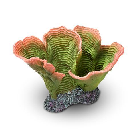 Aquatop Coral, Artificial Aquarium Décor, Green/Orange, 10-in