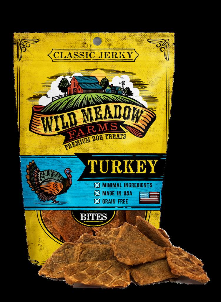 Wild Meadow Farms Classic Jerky Bites Turkey, 4-oz