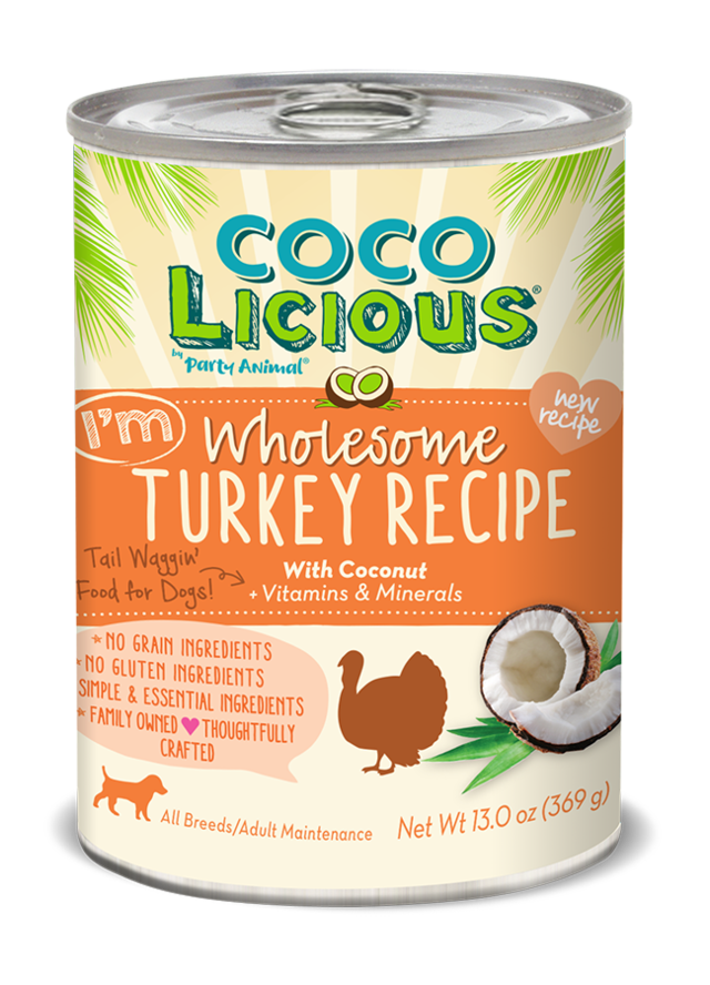 Party Animal CocoLicious I'm Wholesome Turkey Can Dog Food, 13-oz