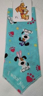 Mooch's Munchies Bandanna Dog Bandana, Easter Beagle Teal, Toy