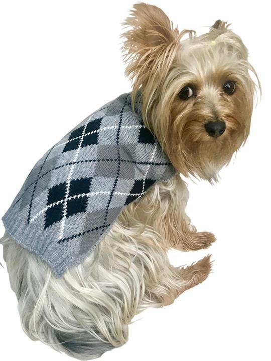 The Dog Squad Sweater, Edinborough Argyle, XX-Small